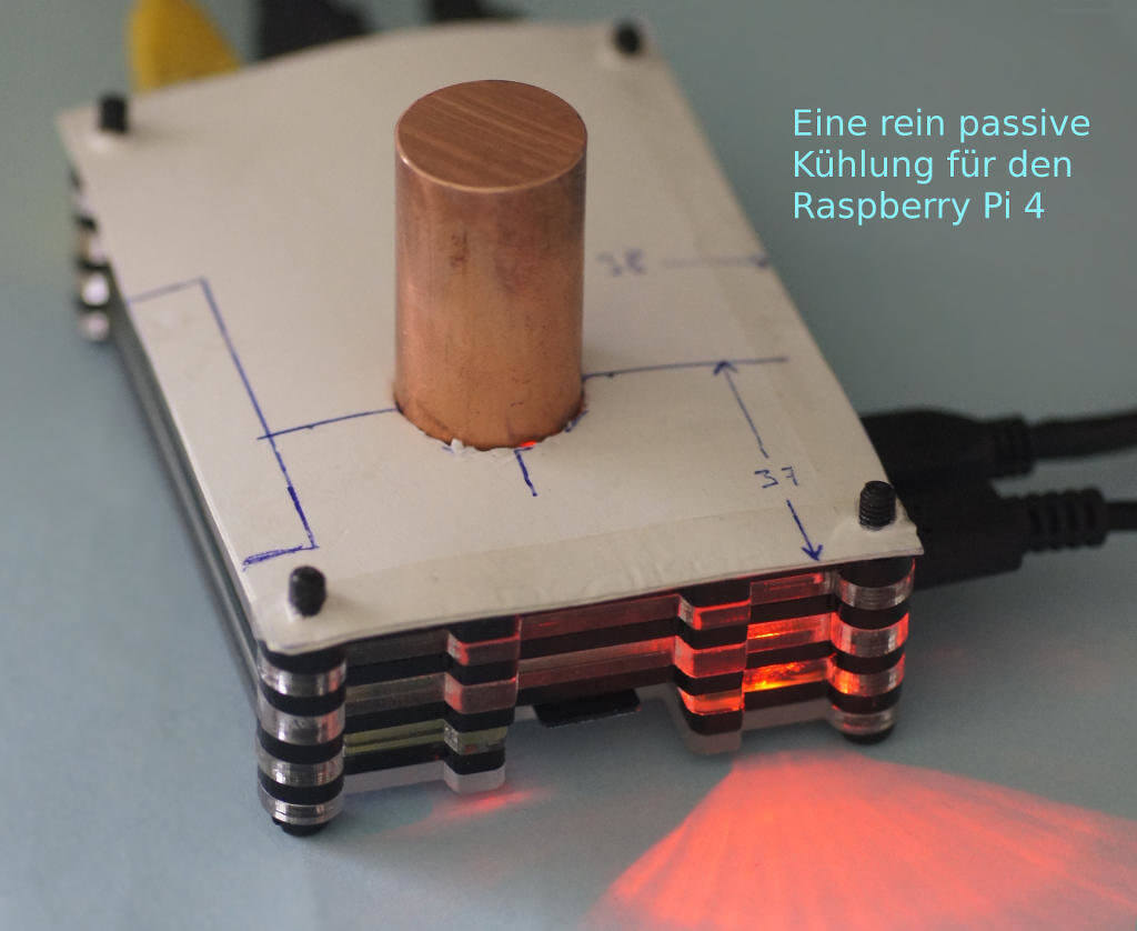 Eine rein passive Kühlung für den Raspberry Pi 4