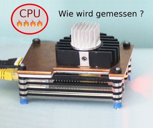 Raspberry Pi 4 mit Kupferplatte und Kühlkörpern